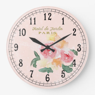 Grande Horloge Ronde Pays chic ou cottage chic