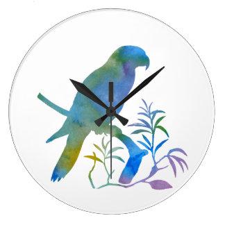 Grande Horloge Ronde Perroquet