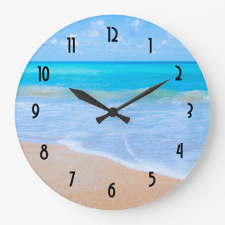 Grande Horloge Ronde Photo tropicale de scène de plage extraordinaire