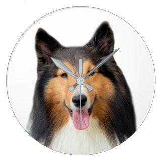 Grande Horloge Ronde Photographie d'animal de compagnie de chien de