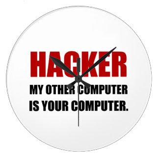 Grande Horloge Ronde Pirate informatique l'autre votre ordinateur