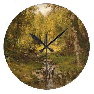 Grande Horloge Ronde Piscine dans les bois