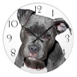 Grande Horloge Ronde Pitbull Terrier américain