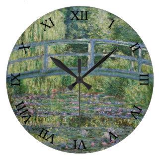 Grande Horloge Ronde Pont et nénuphars japonais par Claude Monet