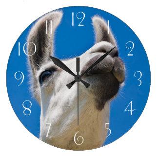 Grande Horloge Ronde Portrait de lama