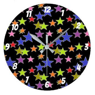 Grande Horloge Ronde Profil sous convention astérisque coloré