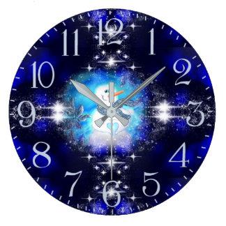 Grande Horloge Ronde Quelqu'un vous aime étincelle émotive de bonhomme