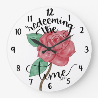 Grande Horloge Ronde Rachat de l'horloge murale en lettres de main de