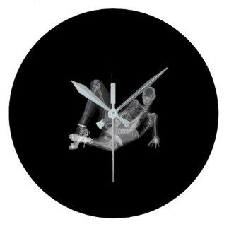 Grande Horloge Ronde Radiographie sexy de femme squelettique