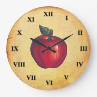 Grande Horloge Ronde Regard rouge d'antiquité d'Apple