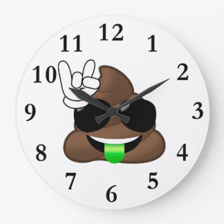 Grande Horloge Ronde Roche sur la dunette d'Emoji