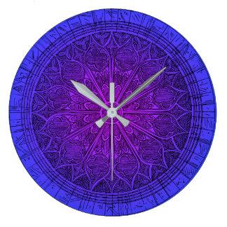 Grande Horloge Ronde Rose de crépuscule de l'horloge d'autel