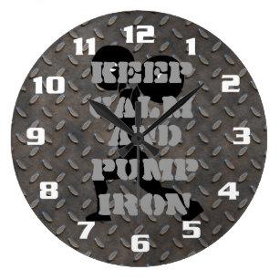 Horloges Musculation Murales Zazzle Fr