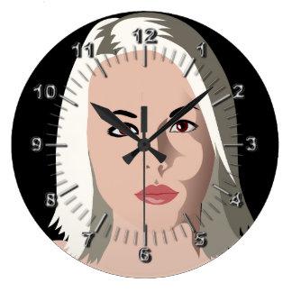 Grande Horloge Ronde salon de Coiffeur-beauté