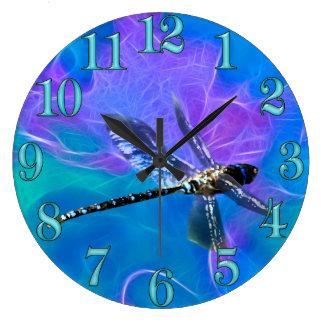 Grande Horloge Ronde Série de cadeau d'Insecte-amants de mouche de demo
