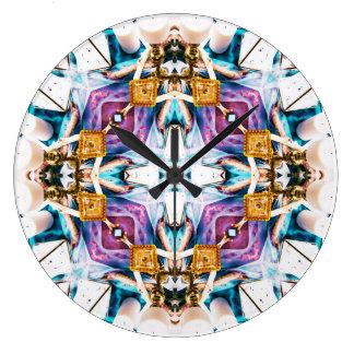 Grande Horloge Ronde Série V1 de kaléidoscope