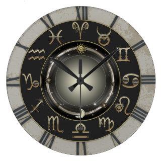 Grande Horloge Ronde Signes de zodiaque