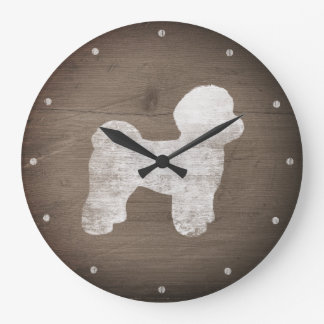 Grande Horloge Ronde Silhouette maltaise rustique