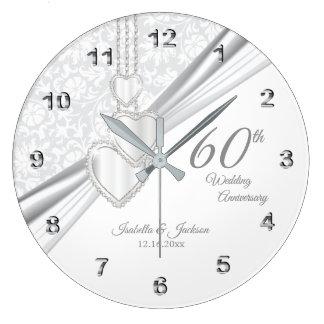 Grande Horloge Ronde soixantième Conception d'anniversaire de noces de