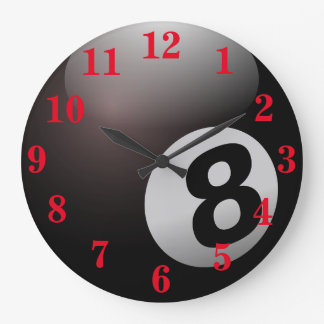 Grande Horloge Ronde Sports de boule de la piscine huit