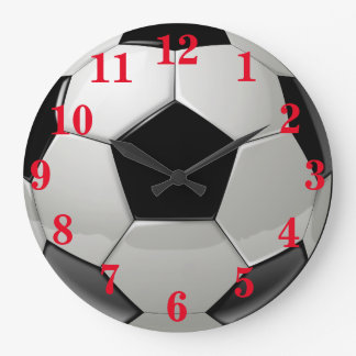 Grande Horloge Ronde Sports du football