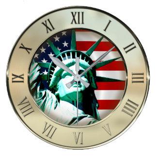 Grande Horloge Ronde Statue de la liberté, New York