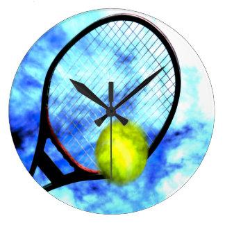 Grande Horloge Ronde Style toute la journée grunge de tennis