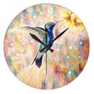 Grande Horloge Ronde Symphonie de l'horloge de colibri