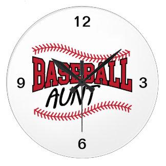 Grande Horloge Ronde Tante de base-ball