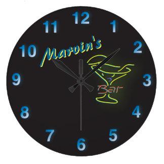 Grande Horloge Ronde Taverne personnalisable de Mancave d'enseigne au