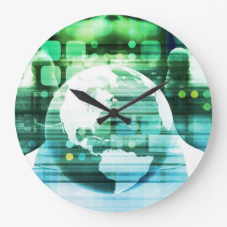 Grande Horloge Ronde Technologie futuriste de la Science comme art de
