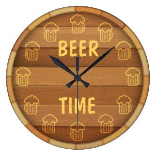 Grande Horloge Ronde Temps de bière