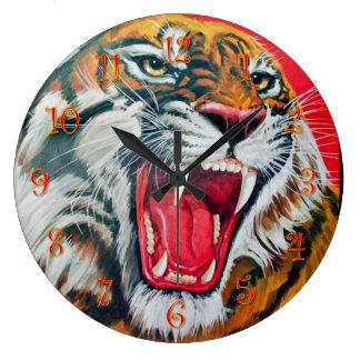 Grande Horloge Ronde Tigre de grognement
