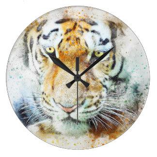 Grande Horloge Ronde tigre de mode de beau chef d'oeuvre de conception