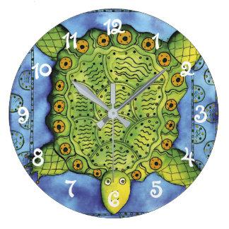 Grande Horloge Ronde Tortue modelée