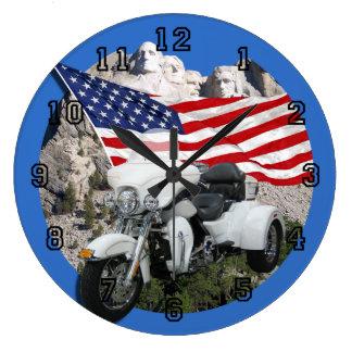 Grande Horloge Ronde Tricycle de liberté