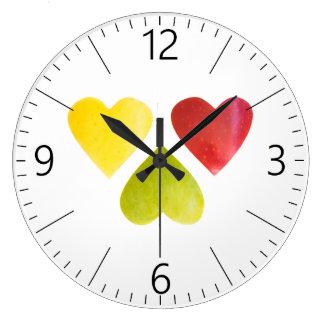 Grande Horloge Ronde Trois coeurs