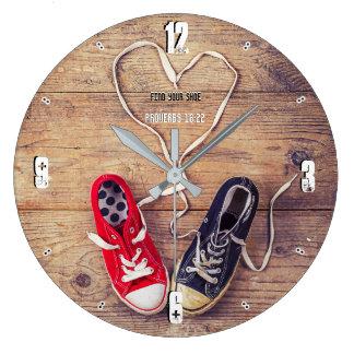 Grande Horloge Ronde Trouvez votre chaussure 93