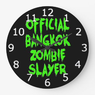 Grande Horloge Ronde Tueur officiel de zombi de Bangkok
