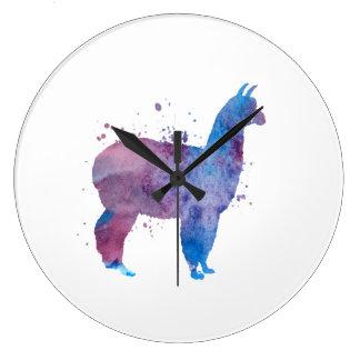 Grande Horloge Ronde Un lama