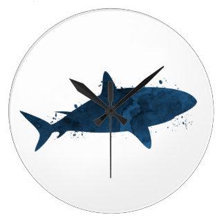 Grande Horloge Ronde Un requin
