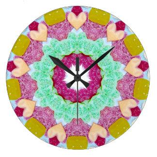 Grande Horloge Ronde Une fractale d'amant de sucrerie
