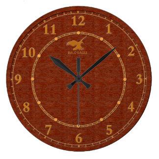 Grande Horloge Ronde Vente moderne décorative en bois rouge d'horloge