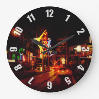 Grande Horloge Ronde Vie nocturne de Vegas - Las Vegas Nevada