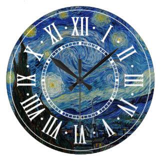 Grande Horloge Ronde Vincent van Gogh - le chef d'oeuvre de la nuit