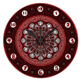 Grande Horloge Ronde Yeux le temps