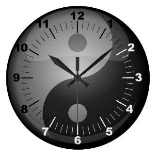 Grande Horloge Ronde Yin Yang