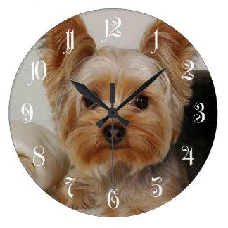 Grande Horloge Ronde Yorkshire Terrier