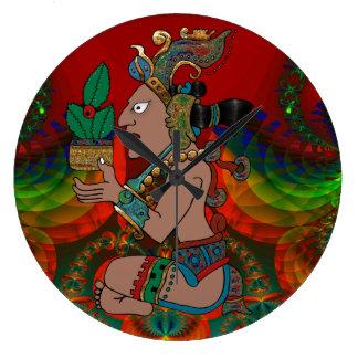 Grande Horloge Ronde Yucatan Mexicano psychédélique Visiones