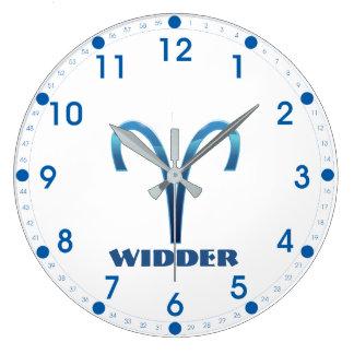 Grande Horloge Ronde Zodiaque de Bélier de Blau Widder